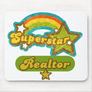Agente inmobiliario de la superestrella alfombrilla de ratón