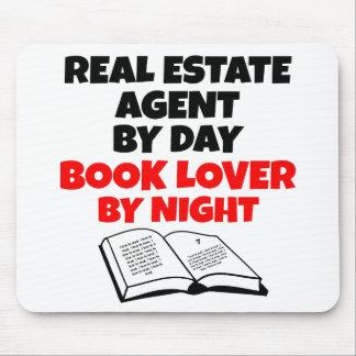 Agente inmobiliario del aficionado a los libros tapete de ratones