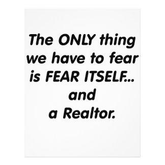 Agente inmobiliario del miedo tarjetón