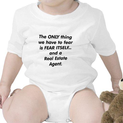 Agente inmobiliario del miedo trajes de bebé