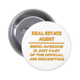 Agente inmobiliario. Descripción de las funciones Pin Redondo De 2 Pulgadas