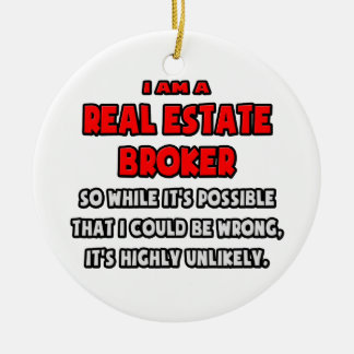 Agente inmobiliario divertido. Altamente Adorno Redondo De Cerámica