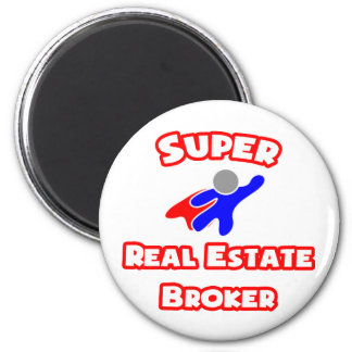 Agente inmobiliario estupendo imán de nevera