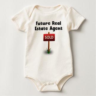 Agente inmobiliario futuro mamelucos de bebé