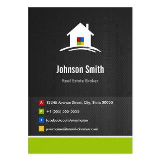Agente inmobiliario - innovador creativo superior tarjetas de visita grandes