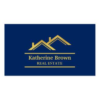 Agente inmobiliario moderno de las propiedades tarjetas de visita