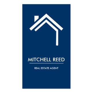 Agente inmobiliario moderno de no. el 43% el pipe% tarjetas de visita