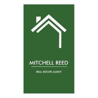 Agente inmobiliario moderno de no. el 44% el pipe% plantillas de tarjetas personales