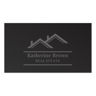 Agente inmobiliario profesional minimalista tarjetas de visita