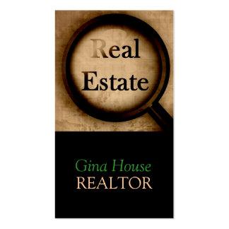 Agente inmobiliario, propiedades inmobiliarias, tarjetas de visita