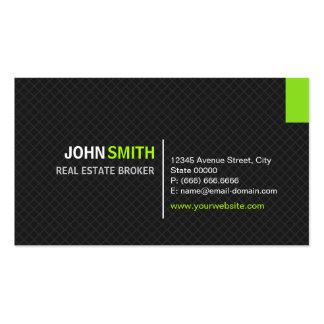 Agente inmobiliario - rejilla moderna de la tela tarjetas de visita