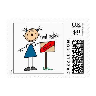 Agente inmobiliario sellos
