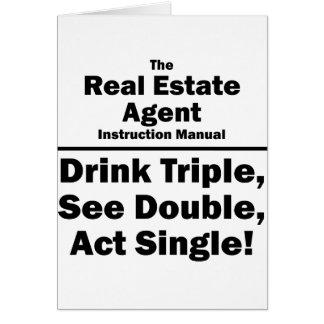 agente inmobiliario tarjeta