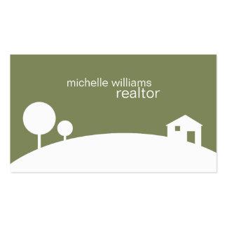 Agente inmobiliario plantilla de tarjeta personal