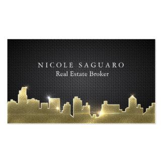 Agente inmobiliario tarjetas de visita