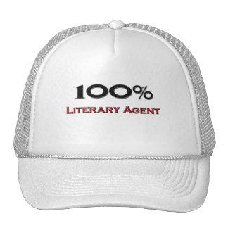 Agente literario del 100 por ciento gorras
