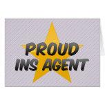 Agente orgulloso del Ins Tarjeta