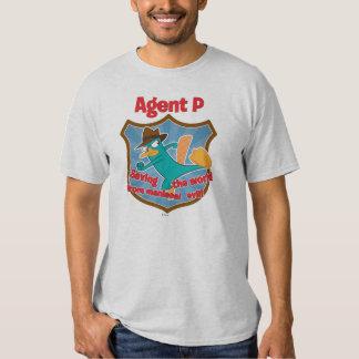 Agente P que ahorra el mundo de insignia malvada Polera