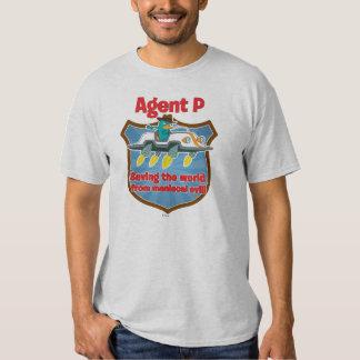 Agente P que ahorra el mundo del coche malvado Remera