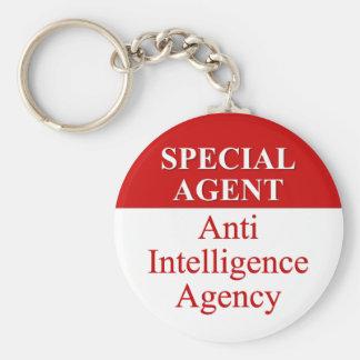 Agente secreto muy especial (3) llavero redondo tipo pin