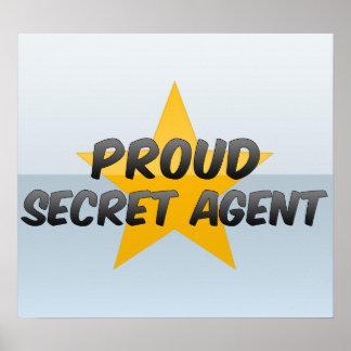Agente secreto orgulloso póster