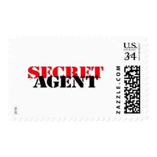 Agente secreto timbre postal