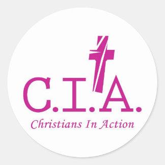 Agentes de la CIA al señor Christians In Action Etiquetas Redondas