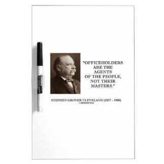 Agentes de los funcionarios de Grover Cleveland de Pizarras Blancas De Calidad