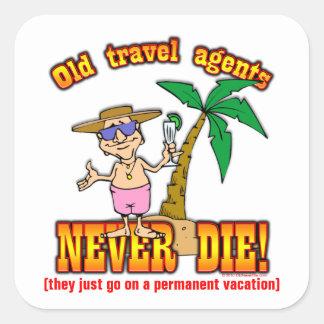 Agentes de viajes pegatina cuadrada