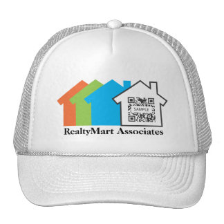 Agentes inmobiliarios de la casa de la plantilla gorras