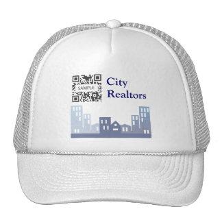 Agentes inmobiliarios de la ciudad de la plantilla gorra
