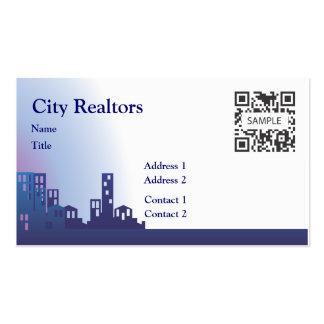 Agentes inmobiliarios de la ciudad de la plantilla tarjetas de visita