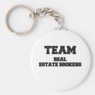 Agentes inmobiliarios del equipo llaveros