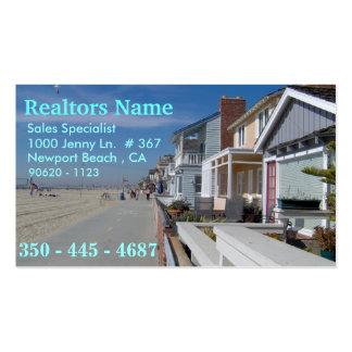 Agentes inmobiliarios, especialista de las ventas plantillas de tarjetas de visita