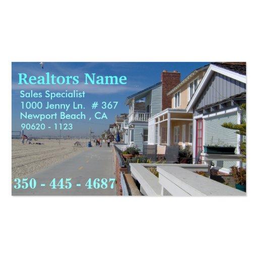 Agentes inmobiliarios, especialista de las ventas tarjetas de visita