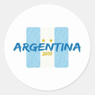 Agentina Futbol 2010 Classic Round Sticker