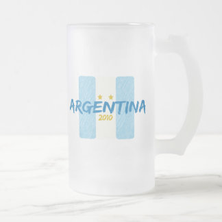 Agentina Futbol 2010 Frosted Glass Beer Mug