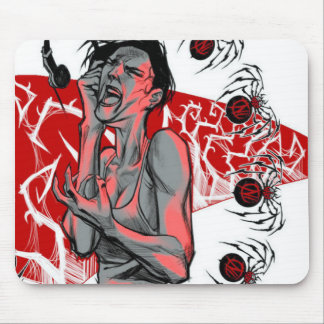 Agents In Red Spider Music Style Mousepad