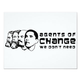 Agents of change we don't need 4.25x5.5 paper invitation card