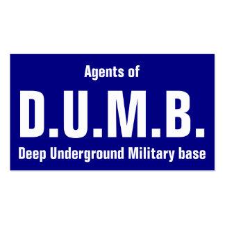 Agents of D.U.M.B. Business Card