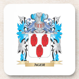 Ager Coat Of Arms Beverage Coaster