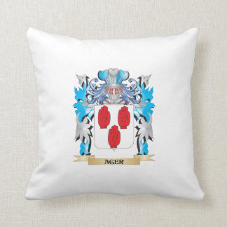 Ager Coat Of Arms Throw Pillows