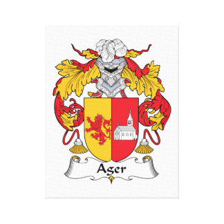 Ager Family Crest Gallery Wrap Canvas