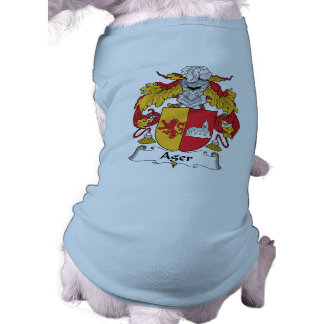 Ager Family Crest Dog Clothing