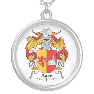 Ager Family Crest Personalized Necklace