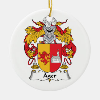 Ager Family Crest Ornament