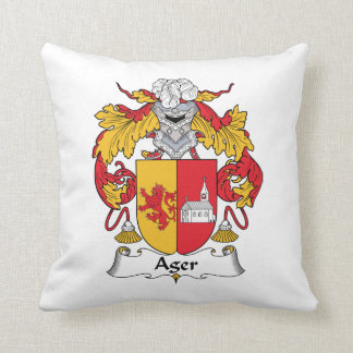 Ager Family Crest Pillow