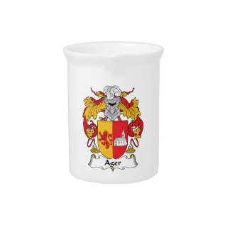 Ager Family Crest Beverage Pitcher