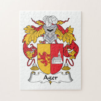 Ager Family Crest Jigsaw Puzzle