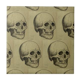 Ages Skulls Pattern for Halloween Ceramic Tiles